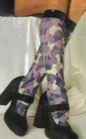 Women's Camouflage Knee High Stockings for Contemporary and Military Costume Fun!