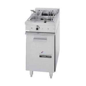 208V Single Phase Garland S18Sf Sentry Series Range Match 30 Lb. Electric Floor Fryer - 16 Kw