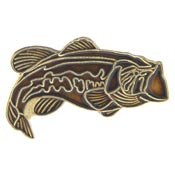 Metal Lapel Pins - Animal - Fishing Pins - Fresh Fish - Black Bass