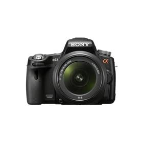 Sony Alpha SLTA33L DSLR with Translucent Mirror Technology and 3D Sweep Panorama (Black)