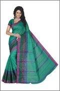 Harsh Sarees Women's Green Supernet Cotton Saree (GUD-1264_Green Colour)