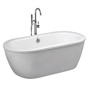 American Standard 2764014M202.011 Cadet Freestanding Tub, Arctic White (Soaker Tub Drain Kits compare prices)