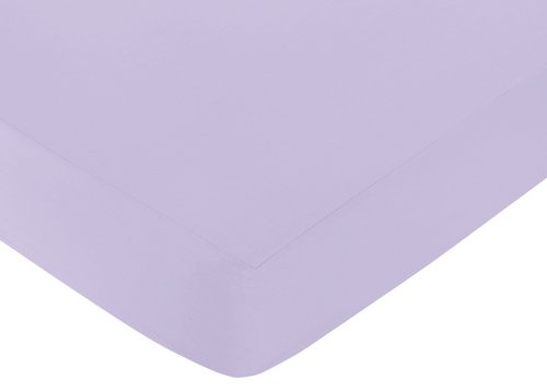 Cotton Fitted Crib Sheet For Elizabeth Baby/Toddler Bedding Collection - Lavender front-3537