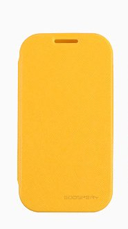 Note3 Case, Mercury Fancy Flip Style Diary Case For Samsung Galaxy Note3 (6 Colors) Wallet Style (At&T, Verizon, Sprint, T-Mobile) - Retail Packaging (Yellow)