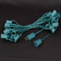 Novelty Lights, Inc. C92512-C910012 Commercial Grade Christmas Stringers, Intermediate Base (C9/E17), Green or White Wire, 25' or 100' Options