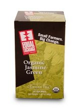 Equal Exchange Organic Jasmine Green Tea, 20-Count (Pack Of 3)
