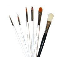 Mehron Makeup Paradise AQ Brushes Face and Body Painting Face Paint Brush Set