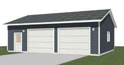 Garage plans 2 bay with shop truck size for 2 bay garage plans