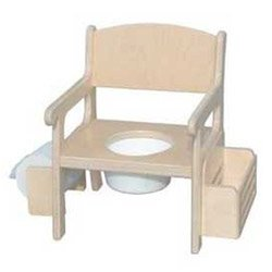 Unfinished Fancy Potty Chair