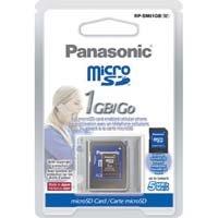Panasonic RP-SM01GBU1K 1GB Micro SD Memory Card with MicroSD-SD adapter