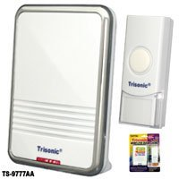 Wireless Battery Operated Powered Door Bell Musical Melodies Chime LED Light New (Battery Door Chime compare prices)