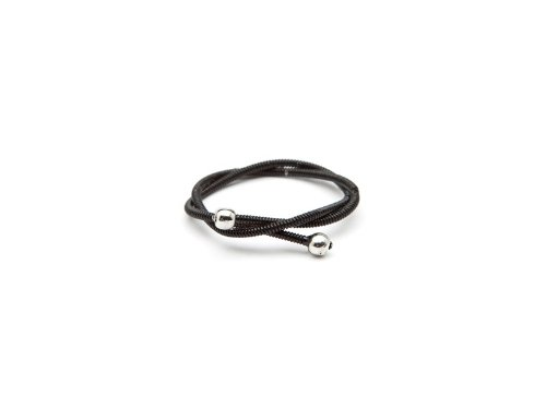 Backstage Black Guitar String Ring - Size: 7