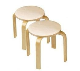 Goto Wooden Sitting Stools (set of 2) Details