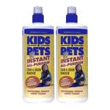KIDS 'N' PETS Brand Stain & Odor Remover, two pack 32 fluid ounces (64 ounces total) ~ Kids n'Pets