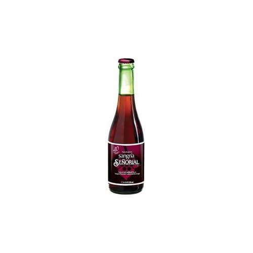 Amazon.com : Senorial Sangria Non Alcoholic Drink Glass Bottle 12 oz ...