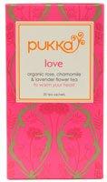 Pukka Herbs - Organic Herbal Tea Love Organic Rose, Chamomile & Lavender Flower - 20 Tea Bags