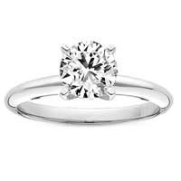 0.89 Carat D/VS1 Round Brilliant Certified Diamond Solitaire Engagement Ring in Platinum