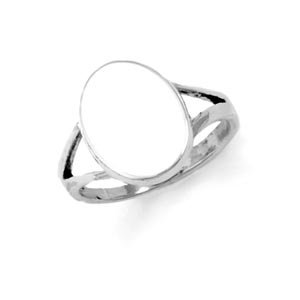 Sterling Silver Oval Engravable Ring with