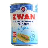 Zwan Chicken Hotdog Sausages Light, 400g