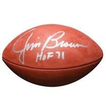 Jim Brown Cleveland Browns Inscribed Hof Signed Autographed Nfl Replica Football...
