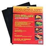 "BBQ B00C1LWE32 Grill Mat (Set of 2), 15.75 x 13"" (Discontinued by Manufacturer)"