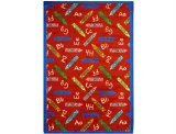 "Joy Carpets Playful Patterns Children's Crayons Area Rug, Red, 7'8"" x 10'9"""