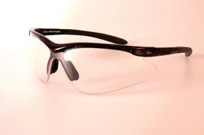 Fisher Racer Series Qualifier Eyewear, Black Frame; Flash Mirror Lens front-564468