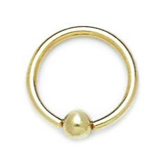 14k Yellow Gold 14 Gauge Circular Body Piercing