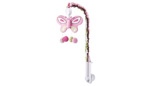 Tiddliwinks Raspberry Garden Musical Crib Mobile - 1