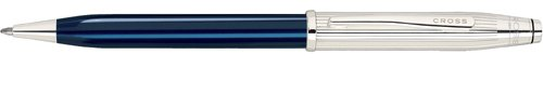 Cross Century II Sterling Silver/Translucent Blue Lacquer Ball-Point Pen with Silver Plated Appointments (Cross Century Ii Ballpoint compare prices)