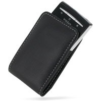 PDair Leather Case for Sony Ericsson Xperia X10 mini - Vertical Pouch Type with Belt Clips (Black) (Xperia X10 Mini Case compare prices)