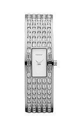 DKNY Glitz Silver-Tone Dial Women's Watch #NY8297