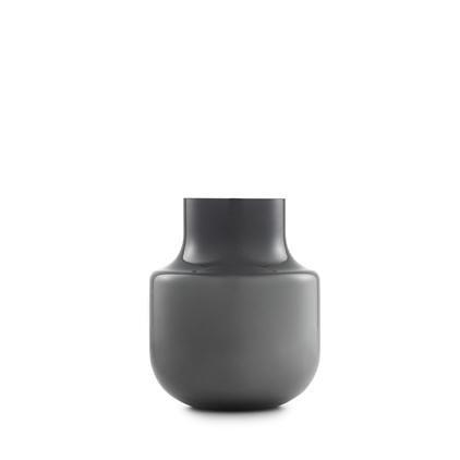Normann Still Vase H: 19cm, grau mundgeblasenes Glas Lieferbar ab Januar!