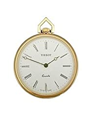 Tissot T-Pocket Solid Brass White Dial Pocket watch #T82.4.553.13