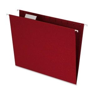 Esselte Pendaflex Corporation Hanging Earthwise Folder, 1/5 Tab Cut, Letter Size, Red