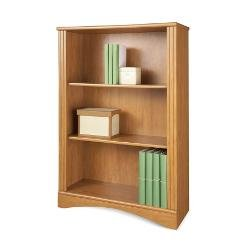 Realspace(R) Dawson 3-Shelf Bookcase, 44In.H X 30 1/2In.W X 11 3/5In.D, Canyon Maple