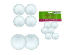Large Foam Craft Balls ( Case of 36 ) (Kids Manikin Head compare prices)
