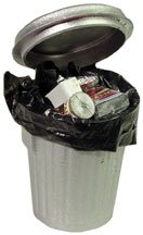 Dollhouse Miniature Garbage Pail with Removable Trash - 1