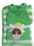 Carters Frog Bath Towel and Bath Mitt Set