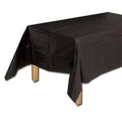 Basic Black Theme Party Plastic Table Covers