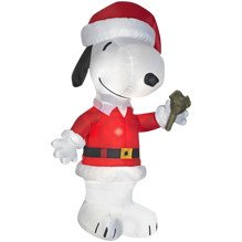 Peanuts Snoopy Jingle Bell Santa Christmas 6