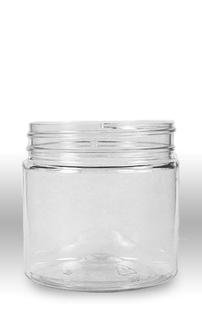 Plastic Wide Mouth Jar with Pressurized Lid Pack of 12 (8oz) Crystal Clear Container with White Cap