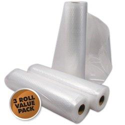 "3 - 11""X50' Vacuum Seal Rolls Commercial Grade Vacuum Sealer Bags front-16672"
