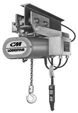 CM Series 635 Lodestar Motor Driven Trolleys - 3ton 30fpm motor driventrolley 115-1-60 f