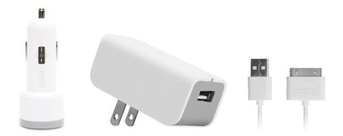 Griffin PowerDuo Home/Car Charger for iPod and iPhone (White) griffin чехол книжка griffin универсальный 2type 7 кожзам ткань черный