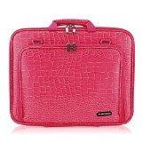 CaseCrown Alligator Slim Double Memory Foam Pocket Case (Alligator Hot Pink) for Lenovo 15 Inch Laptop