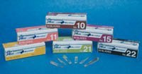 73-0410 PT# 73-0410- Blade Scalpel PT# 10 Personna Plus SS Sterile Disposable 50/Bx by, American Safety Razor Co.