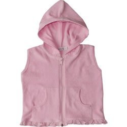Under the Nile Organic Cottn Terry Pink Vest Toddler Sizes 2T-4T (4T)