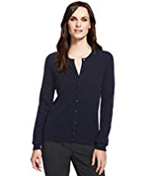 M&S Collection Pure Cashmere Round Neck Cardigan