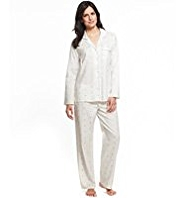Per Una Pure Cotton Revere Collar Embroidered Heart Pyjamas